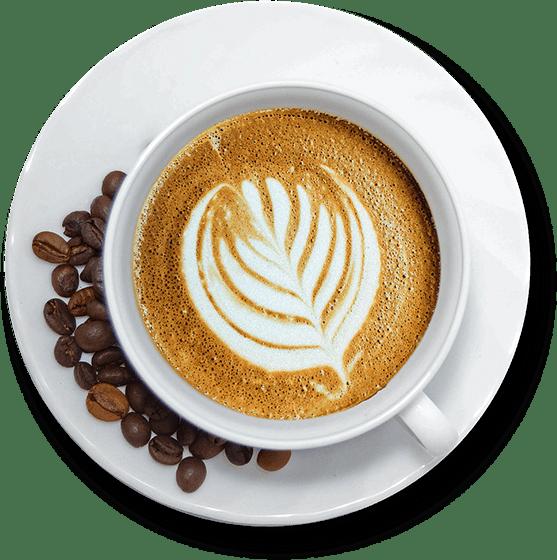 disegno con la schiuma del caffè